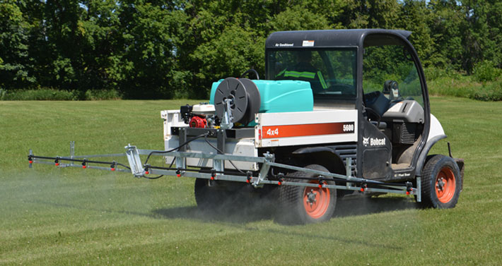 Spraying with a Field Boss UTV sprayer